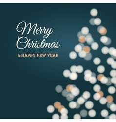 Merry christmas tree card blue vector