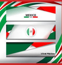 Mexico banner design vector