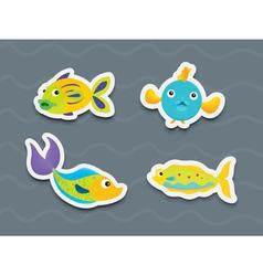Mixed fish vector