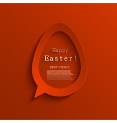 modern easter background vector image
