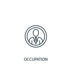 Occupation concept line icon simple element vector