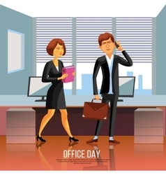 Office People Poster vector