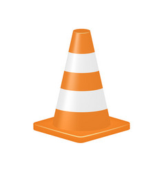 Orange traffic cone vector