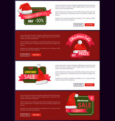 Premium quality christmas sale web banners buttons vector