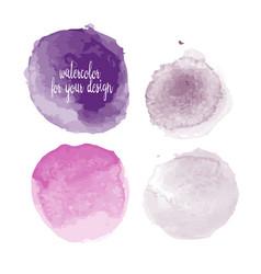 purple colors watercolor paint stains vector image