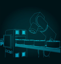 Robotic arm and conveyor vector