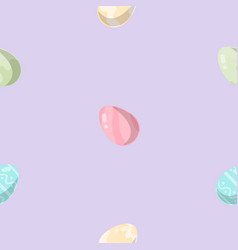 seamless background of easter eggs vector image