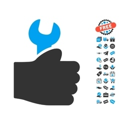 Service Hand Icon With Free Bonus vector