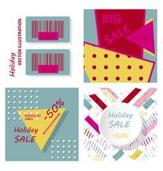 set of sale banner big sale banner template vector image