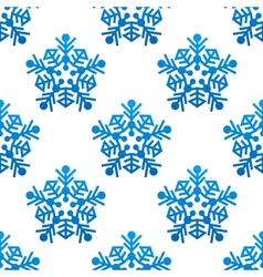 Snowflakes seamless pattern background vector