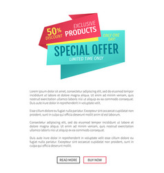 Special offer exclusive poster vector