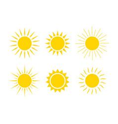 sun logos icons sunrise sunset with sunbursts vector image
