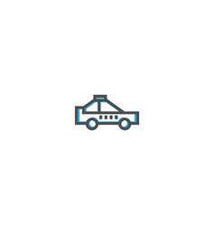 taxi icon design transportation icon design vector image