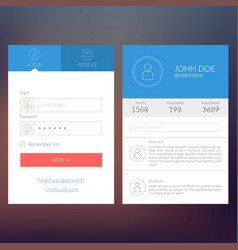 User interface concept vector