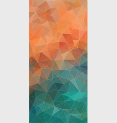 vertical triangle orange and green gradient vector image