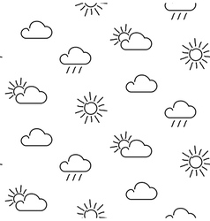 Weather seamless pattern vector image