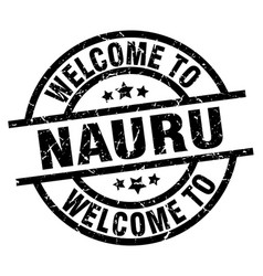 welcome to nauru black stamp vector image
