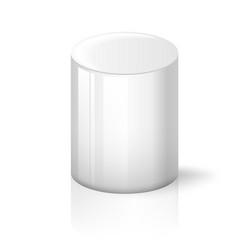 white cylinder on background vector image