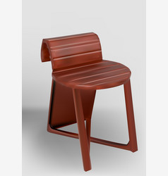 wooden chair with an unusual back vector image