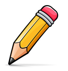 Wooden pencil cartoon vector