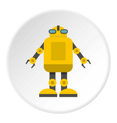 Yellow machine icon circle vector