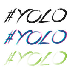 yolo set text vector image