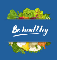 be healthy banner with vegetable vector image vector image
