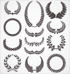 Laurel wreath set vector image vector image