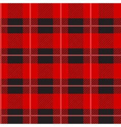 Red Tartan Plaid Pattern vector image