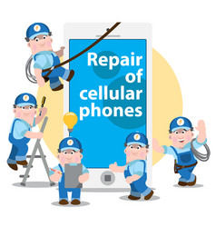 repair of cellular phones problem diagnosis vector image vector image