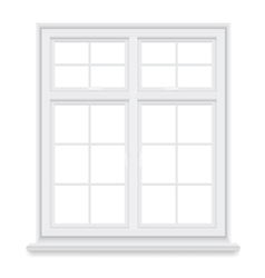 traditional white window isolated vector image vector image