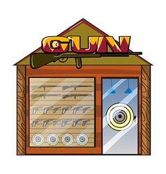 A gun shop vector image vector image