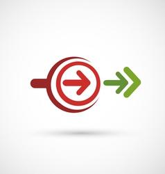 Arrows icon vector
