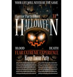 halloween horror party flyer vector image