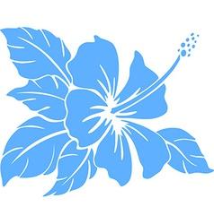 Hibiscus flower Silhouette vector image