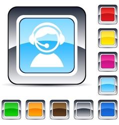 operator square button vector image