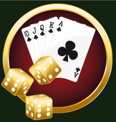 royal flush and dices vector image vector image