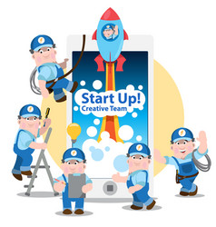 conceptual of start up new business project vector image