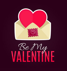 envelope with heart card for valentines day vector image