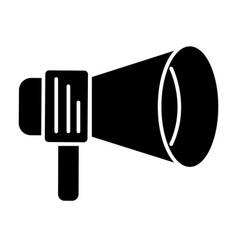 loudspeaker round icon black vector image