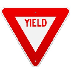 USA Yield Sign vector image vector image
