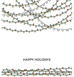 Bright garlands Background with doodle garland New vector image