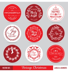 Christmas Labels Banners and Tags Set vector image vector image