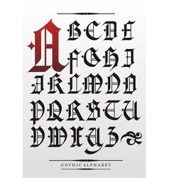 Gothic alphabet vector