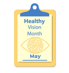 healthy vision awareness sign vector image vector image