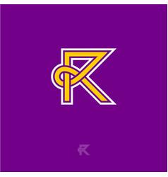 r monogram letter vector image