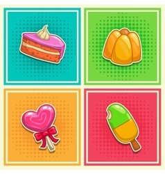 Sweet stickers 2 vector