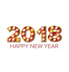 2018 happy new year background decoration vector image