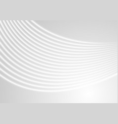 abstract grey and white wavy lines background vector image