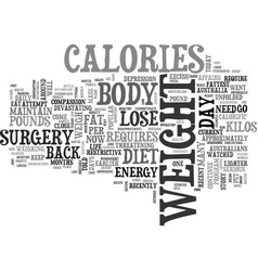 after a diet why does the weight come back text vector image